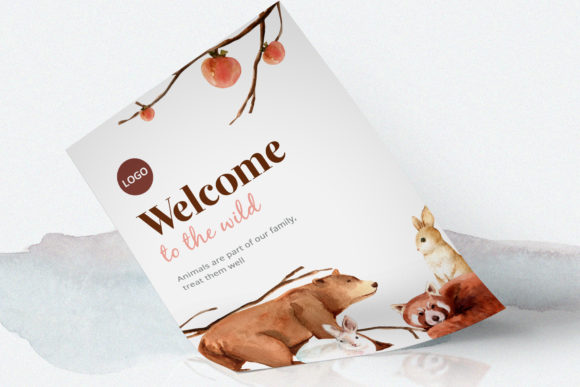 Winter Animals Watercolor Collection Graphic Popular Design