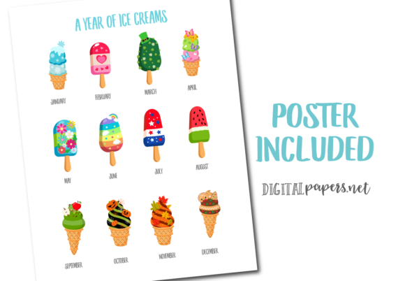 A Year of Ice Cream Graphic Item