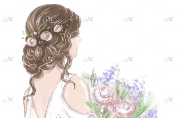 Bride with Beautiful Hairstyle Graphic Item