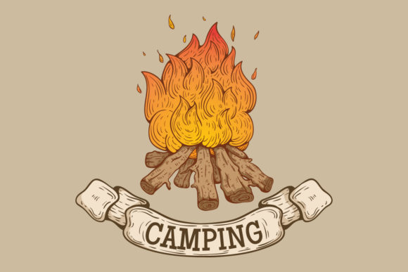 Campfire Hand Drawn Style Graphic Illustrations By PadmaSanjaya