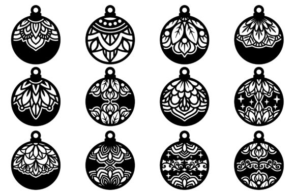 Christmas Baubles Toys Balls Ornament Graphic Download