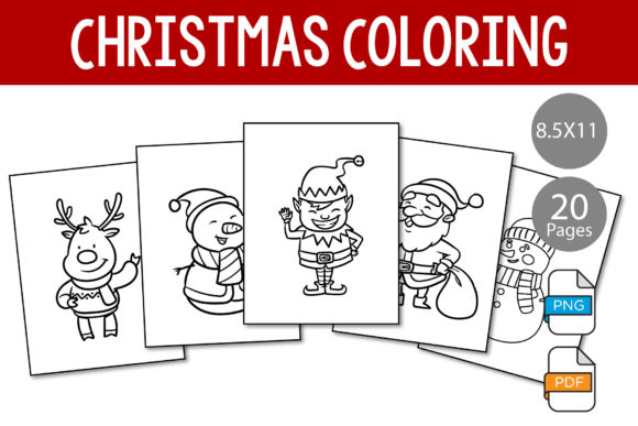 Print on Demand: Christmas Coloring Pages for Toddler Graphic KDP Interiors By IsaraDesign