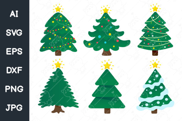 Print on Demand: Christmas Tree Design. Svg File. Graphic Illustrations By CRStocker