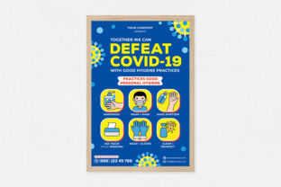 Defeat Covid-19 Poster Graphic Print Templates By medzcreative