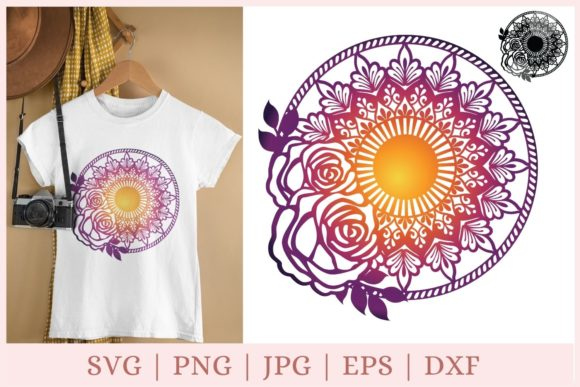 Flower Mandala Svg, Floral Svg Graphic Print Templates By CrazyCutDesigns