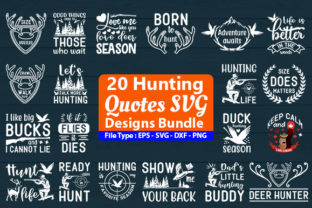 Print on Demand: Hunting Designs Bundle Graphic Print Templates By Design Store