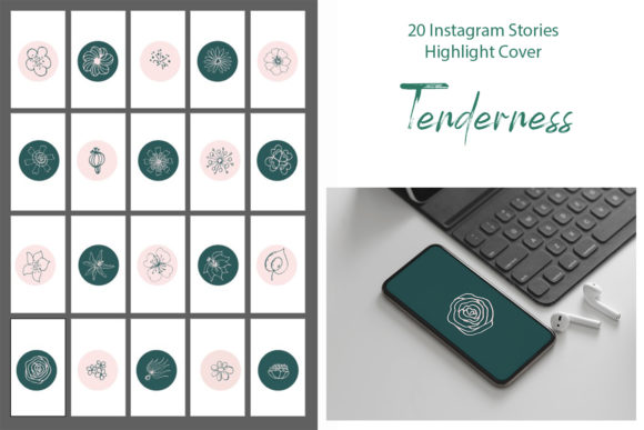 Print on Demand: Instagram Highlight Stories Graphic Icons By ElenaZlataArt