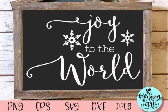 Joy to the World Wood Sign Svg Graphic Objects By MidmagArt