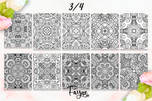 Mandala Coloring Pages Pack 07 KDP Graphic Item