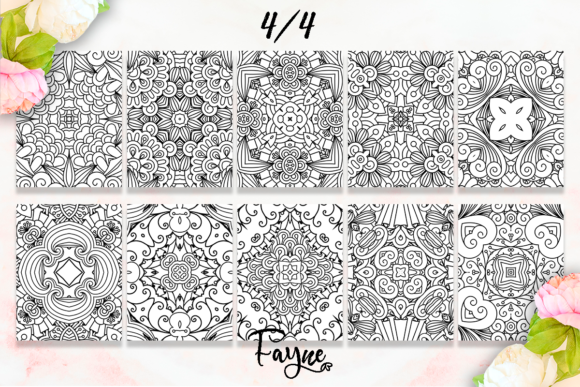 Mandala Coloring Pages Pack 07 KDP Graphic Design