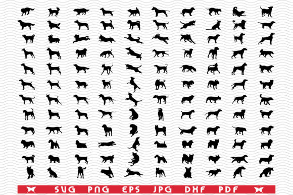 SVG Dogs Breeds, Black Silhouettes Graphic Icons By DesignStudioRM