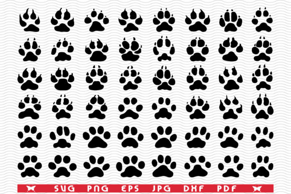 SVG Traces Cats Dogs, Black Silhouettes Graphic Icons By DesignStudioRM