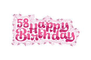Print on Demand: 58 Years Birthday Beautiful Typography Graphic Crafts By Netart