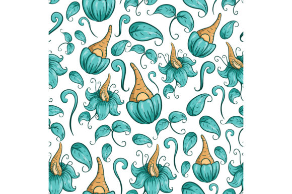 Abstract Flower in Seamless Pattern Graphic Illustrations By PadmaSanjaya