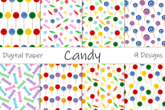 Candy and Lollipop Patterns Graphic Patterns By shishkovaiv