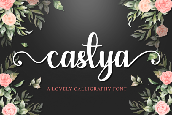 Print on Demand: Castya Script & Handwritten Font By DYSA Studio