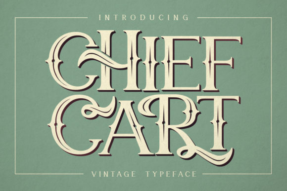 Print on Demand: Chief Cart Blackletter Font By Maulana Creative