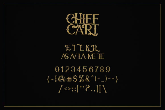 Chief Cart Font Preview