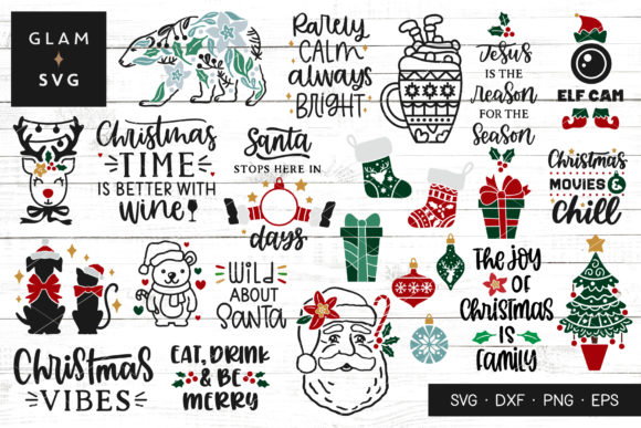 Christmas Clipart Bundle Graphic Crafts By Glam SVG