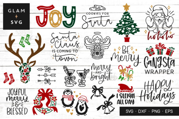 Christmas Clipart Graphic Crafts By Glam SVG