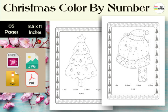 Print on Demand: Christmas Color by Number Page 2 - KDP Graphic KDP Interiors By Sei Ripan