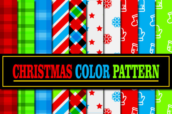 Print on Demand: Christmas Color Pattern Graphic Patterns By Mahesa Design