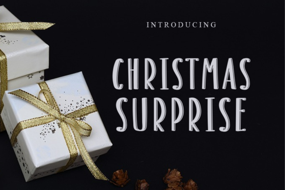 Print on Demand: Christmas Surprise Display Font By gunawanletter