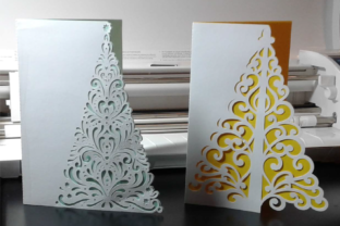 Print on Demand: Christmas Tree Card Kit Graphic 3D Christmas By sewmanygreatdesigns