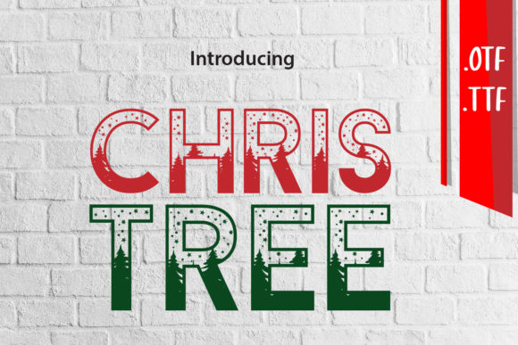 Print on Demand: Christree Decorative Font By assalwaassalwa