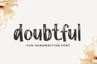Print on Demand: Doubtful Display Font By hugefonts