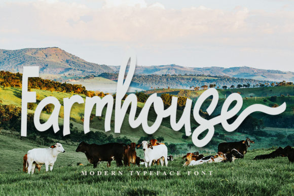 Print on Demand: Farmhouse Script & Handwritten Font By FL Space