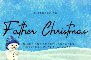 Print on Demand: Father Christmas Script & Handwritten Font By giartstudios