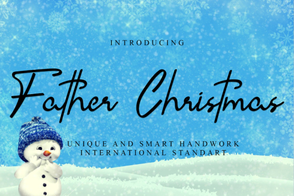 Print on Demand: Father Christmas Script & Handwritten Font By giatstudios