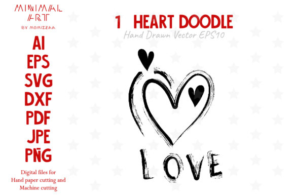 Print on Demand: Hearts - Valentine Doodle Graphic Crafts By Momixzaa
