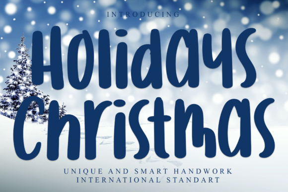 Print on Demand: Holidays Christmas Display Font By giatstudios