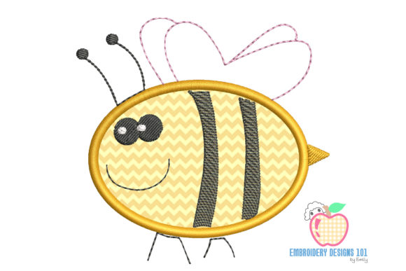 Honey Bee Applique Embroidery Download