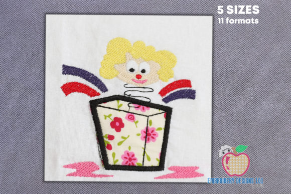 Joker in the Box Toy Applique Embroidery