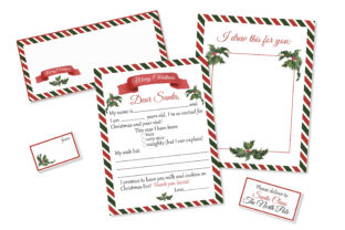 Print on Demand: Letter to Santa Printable Kit Graphic Teaching Materials By s.yanyeva
