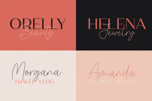 Melody Southern Duo Font Image