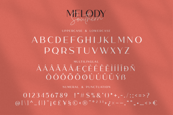 Melody Southern Duo Font Downloadable Digital File