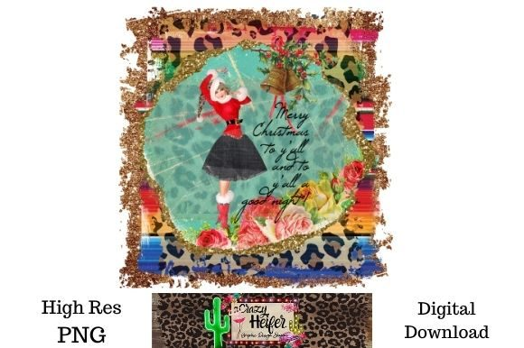Print on Demand: Merry Christmas Dye Sublimation PNG Graphic Illustrations By Crazy Heifer Design Shoppe
