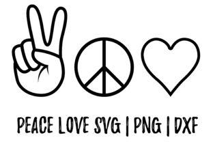 Print on Demand: Peace and Love Graphic Objects By CuteShopClipArt
