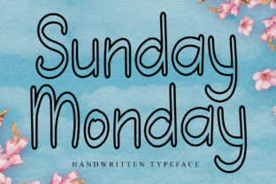 Print on Demand: Sunday Monday Script & Handwritten Font By giartstudios