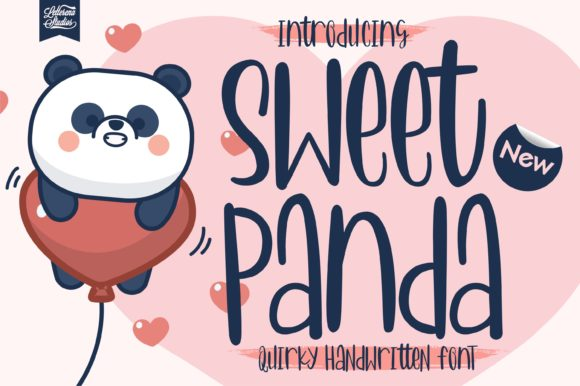 Print on Demand: Sweet Panda Script & Handwritten Font By letterenastudios