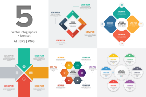 Print on Demand: Vector Infographic Templates and Icons Graphic Infographics By Simply Swapnil