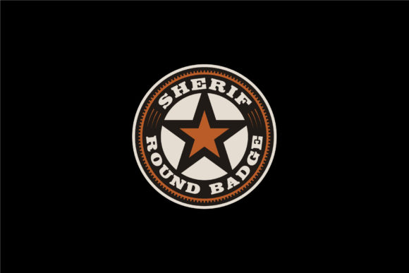 Print on Demand: Western Country Texas Star Sheriff  Logo Grafik Logos von Enola99d