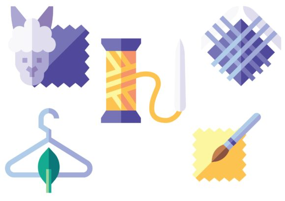 Fabric Features Graphic Icons By ssiimpti73