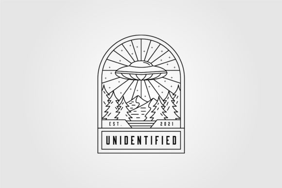Line Art Ufo Space Logo Vector Design Graphic Logos By lawoel