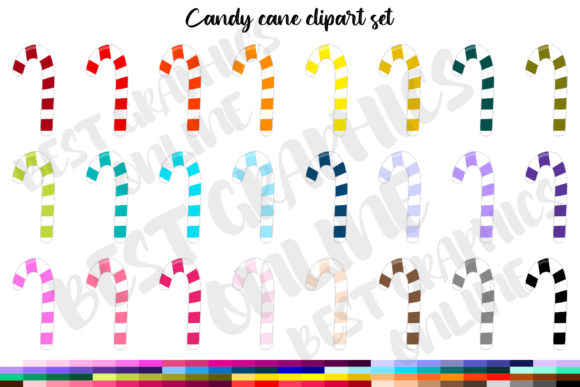 100 Christmas Sweets Candy Cane Clipart Graphic Illustrations By bestgraphicsonline