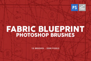 Print on Demand: 15 Fabric Blueprint Texture PS Brushes Graphic Brushes By ArtistMef